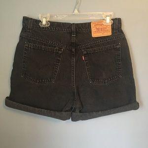 Black Vintage Levi's Shorts